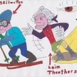 Brille stört  beim Skilaufen und Theaterspielen