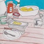Frühstück an Bord