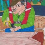 Johannes mit Banane