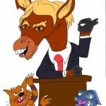 """Donald Trump, der sich als """"bestes Pferd im Stall"""" ansieht"""