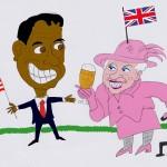 Die Queen und Obama