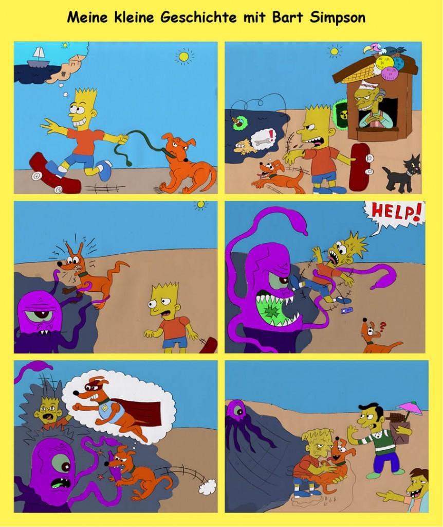 Mein kleiner Comic mit Bart Simpson