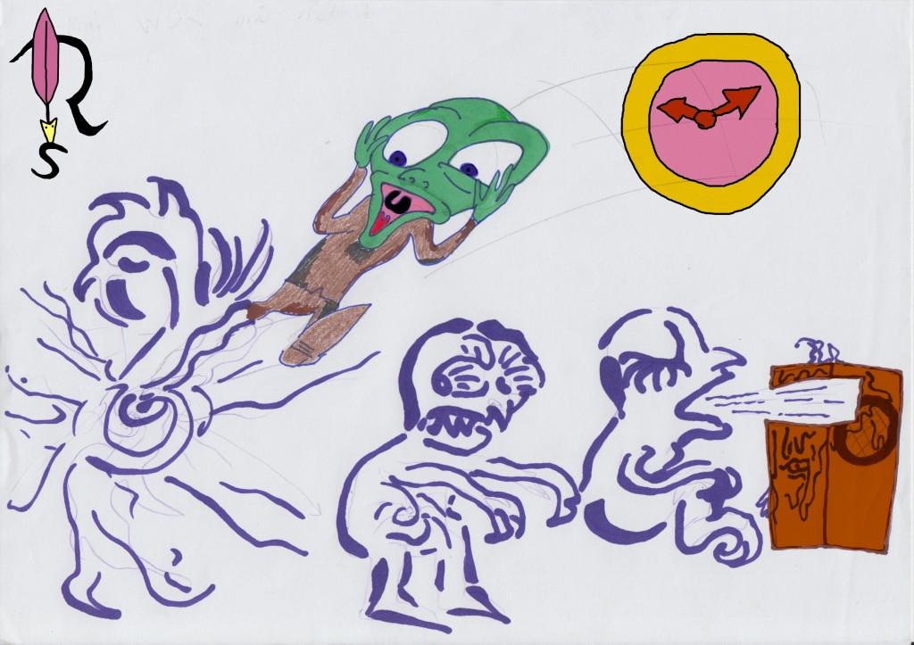 Cartoon-Frosch