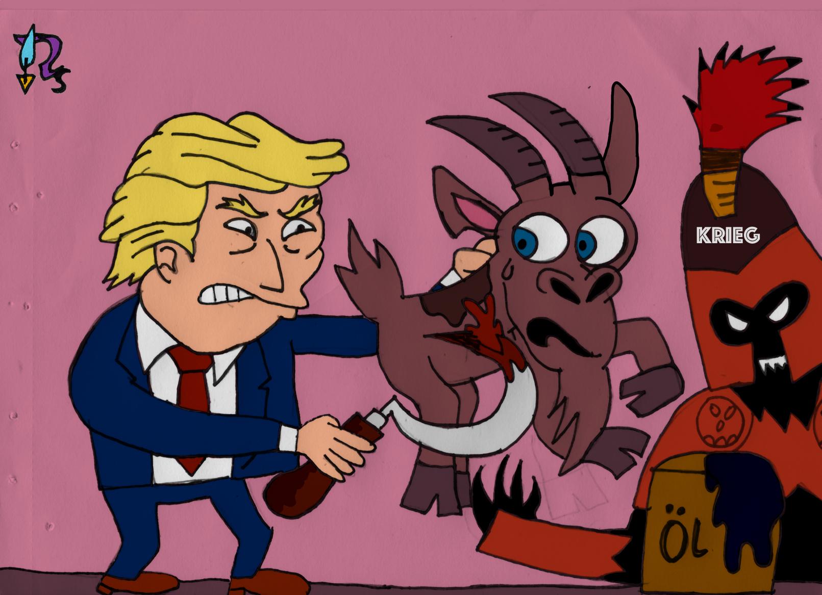Trump-Ziege (klein)